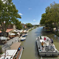 The Canal du Midi by bike : Homps / Le Somail